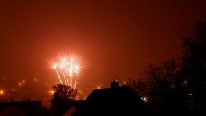 Silvesterfeuerwerk in Eisingen am 31. Dezember 2016 um 23:59 Uhr