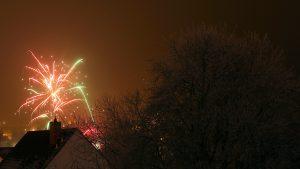 Silvesterfeuerwerk in Eisingen am 1. Januar 2017 um 00:01 Uhr