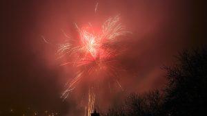 Silvesterfeuerwerk in Eisingen am 1. Januar 2017 um 00:02 Uhr