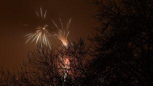 Silvesterfeuerwerk in Eisingen am 1. Januar 2017 um 00:03 Uhr
