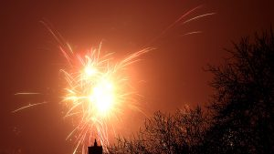 Silvesterfeuerwerk in Eisingen am 1. Januar 2017 um 00:04 Uhr