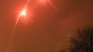 Silvesterfeuerwerk in Eisingen am 1. Januar 2017 um 00:05 Uhr