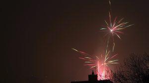 Silvesterfeuerwerk in Eisingen am 1. Januar 2017 um 00:08 Uhr