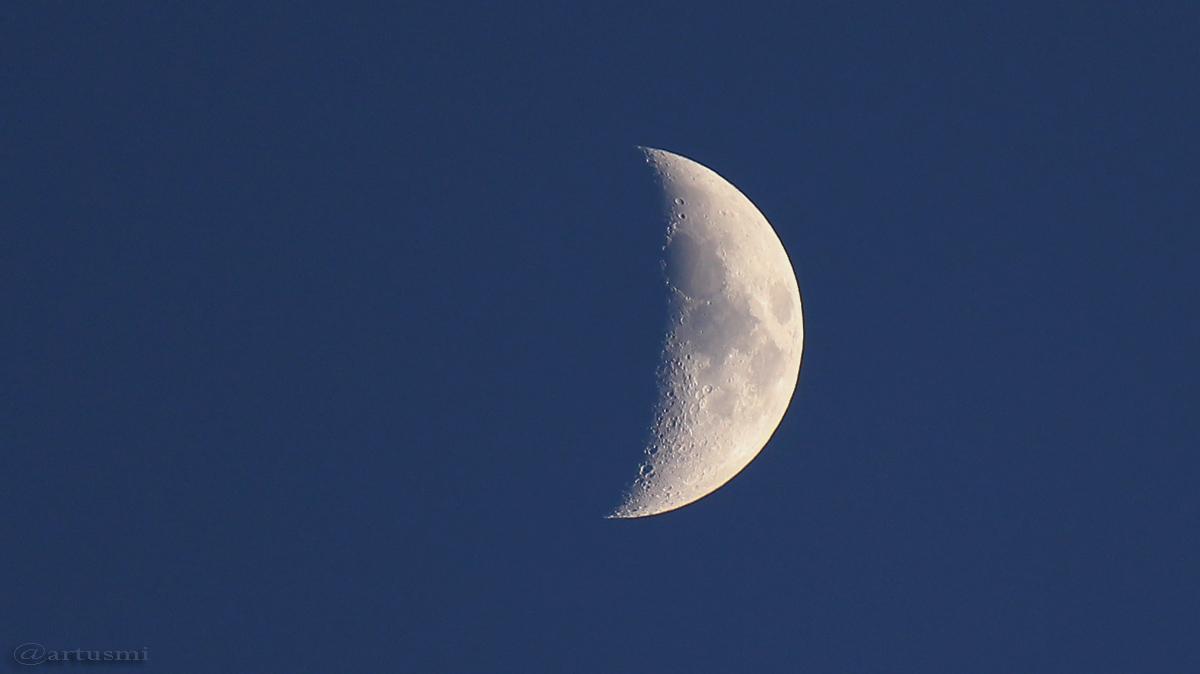 Zunehmender Mond am 4. Januar 2017 um 16:37 Uhr