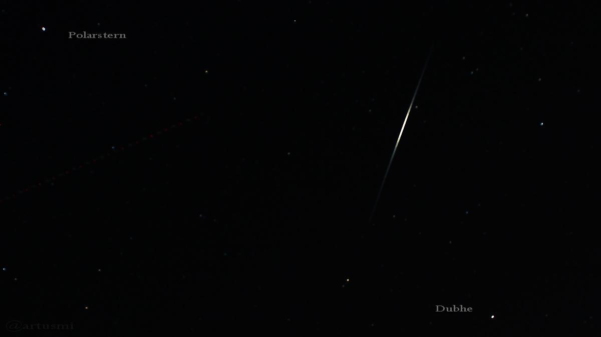 Flare des Satelliten Iridium 50 am 27. Januar 2017 um 19:08 Uhr