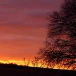 Abendrot am Südwesthimmel - 3. Februar 2017 um 17:09 Uhr