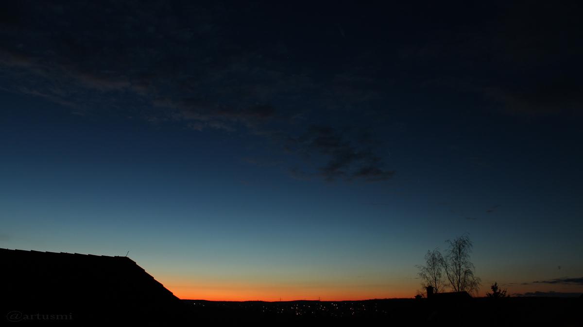 Abendhimmel am 3. Februar 2017