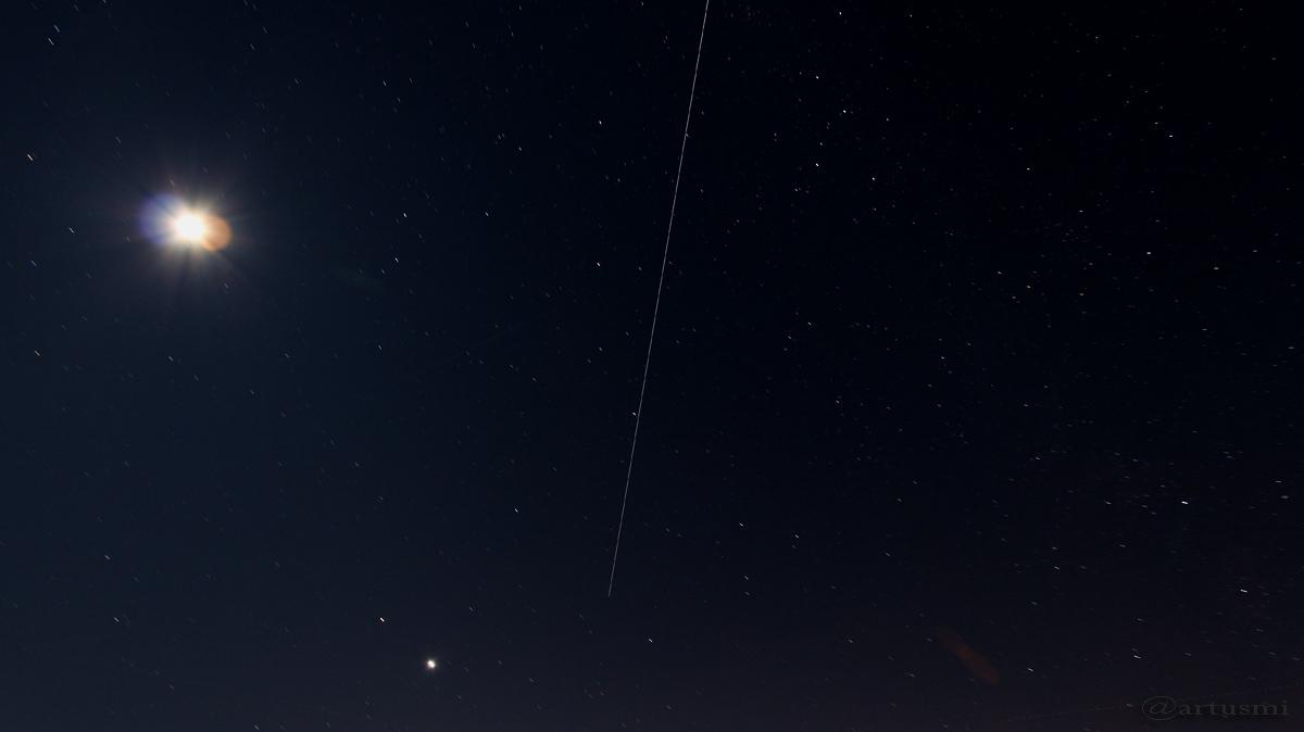 Überflug der ISS am 3. Februar 2017 von 19:01 bis 19:02 Uhr