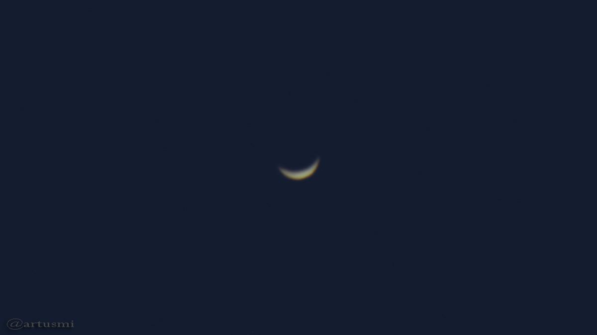 Sichel der Venus am 25. Februar 2017 um 18:27 Uhr