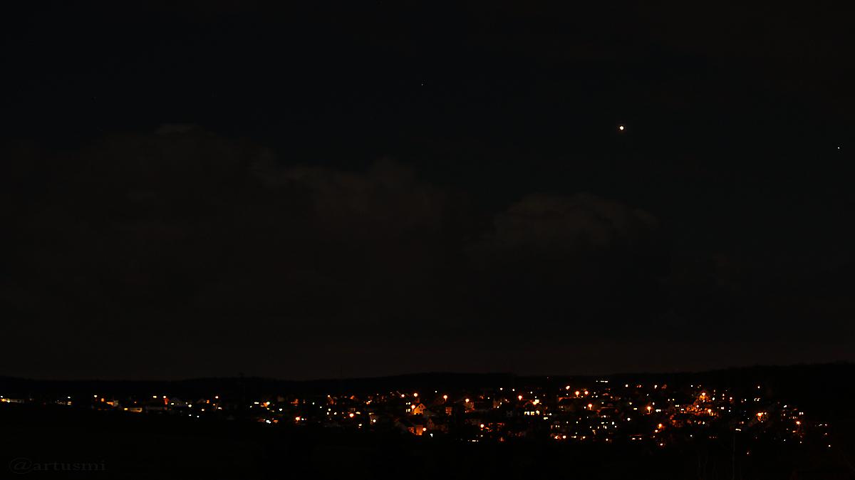 Abendstern Venus am 9. März 2017 um 19:58 Uhr