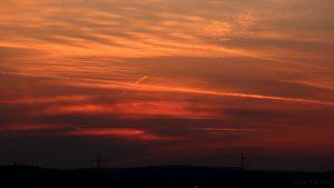 Abendrot nach Sonnenuntergang am 24. März 2017 um 18:41 Uhr