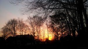 Vor Sonnenaufgang am 26. März 2017 um 06:57 Uhr in Würzburg