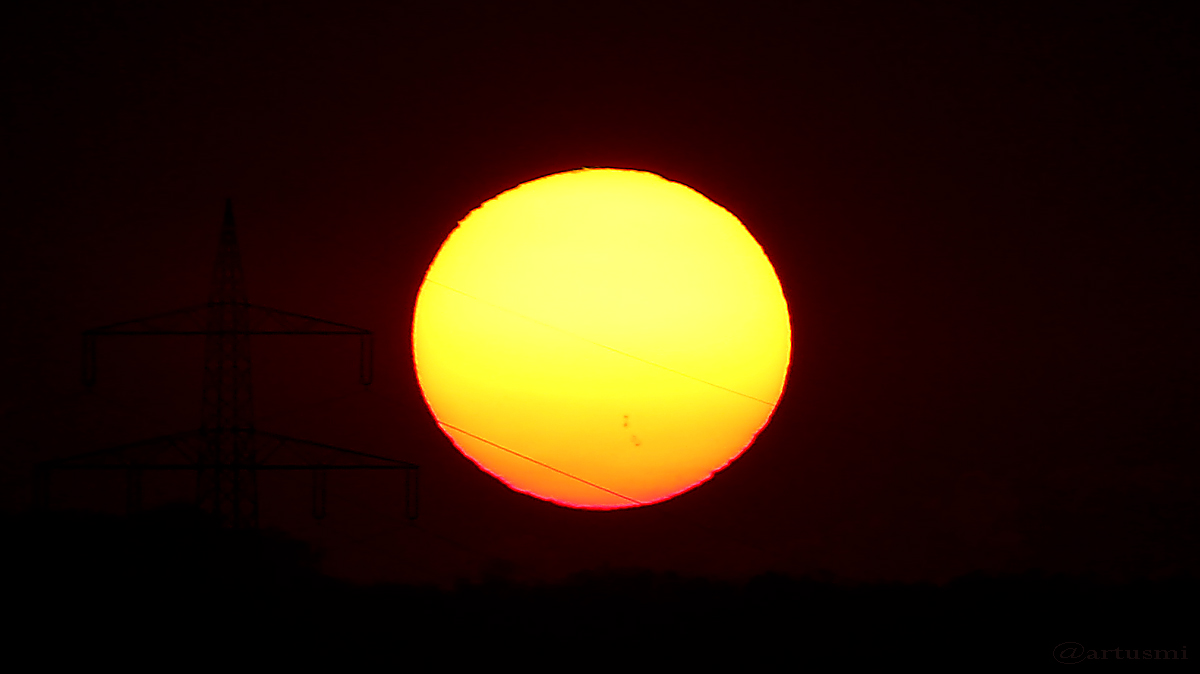 Sonnenuntergang am 3. April 2017 um 19:48 Uhr