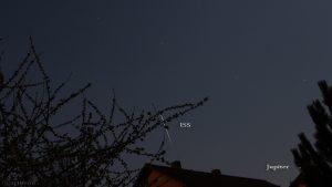 Die ISS am 8. April 2017 um 21:07 Uhr