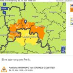 Aktuelle Wetterwarnung des DWD vom 13. Mai 2017, 10:58 Uhr
