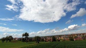 Blick auf Eisingen am 13. Mai 2017 um 15:46 Uhr