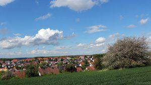 Blick auf Eisingen am 13. Mai 2017 um 15:47 Uhr