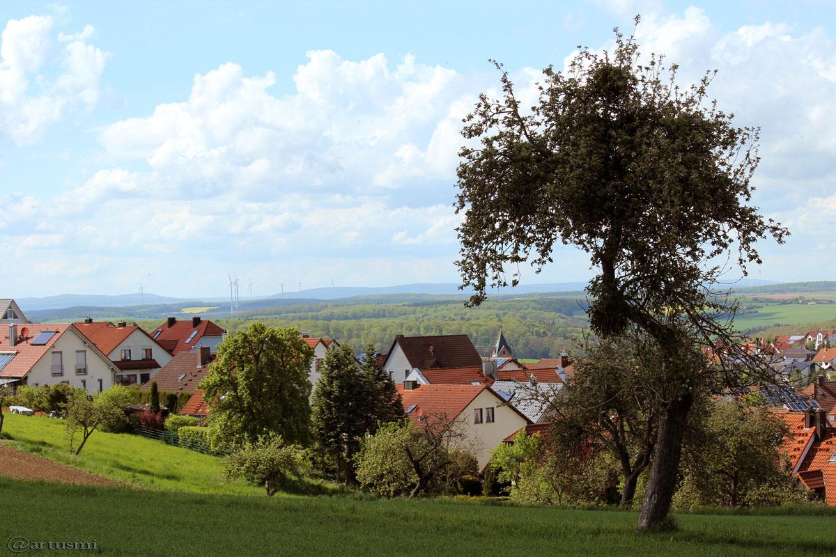 Blick auf Eisingen am 13. Mai 2017 um 15:57 Uhr