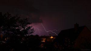 Blitze während des Gewitters am 19. Mai 2017 um 02:33 Uhr