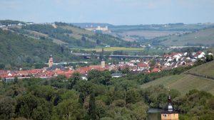Blick vom Panoramahöhenweg Richtung Würzburg