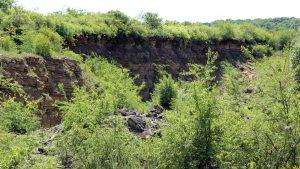 Steinbruch am Panoramahöhenweg Sommerhausen-Kleinochsenfurt