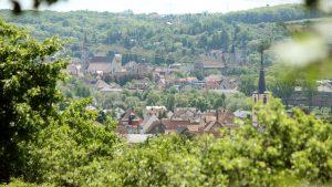 Blick vom Panoramahöhenweg auf Ochsenfurt