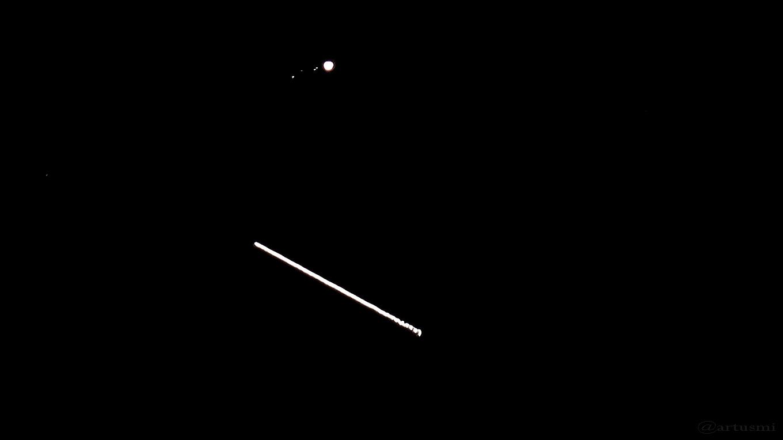 Jupiter und ISS am 25. Mai 2017 um 22:39:54 Uhr