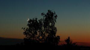 Zunehmender Mond am 27. Mai 2017 um 22:16 Uhr