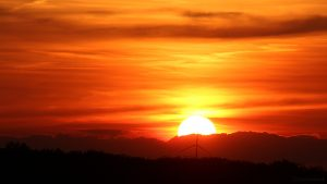 Sonnenuntergang am 31. Mai 2017 um 21:09 Uhr