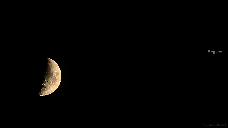 Mond begegnet Regulus am 31. Mai 2017 um 22:29 Uhr