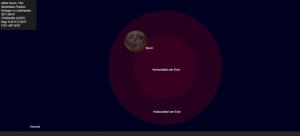 Partielle Mondfinsternis am 7. August 2017 um 21:00 Uhr