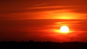 Sonnenuntergang am 1. Juni 2017 um 21:07 Uhr