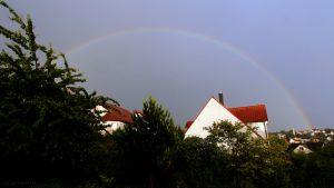 Regenbogen am 9. Juni 2017 um 20:43 Uhr
