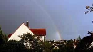 Regenbogen am 9. Juni 2017 um 20:45 Uhr