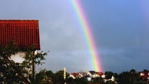 Regenbogen am 9. Juni 2017 um 20:50 Uhr
