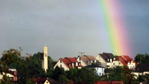 Regenbogen am 9. Juni 2017 um 20:51 Uhr