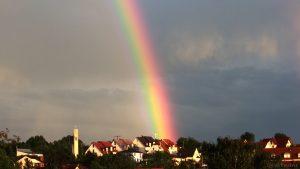 Regenbogen am 9. Juni 2017 um 20:52 Uhr