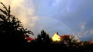 Regenbogen am 9. Juni 2017 um 20:53 Uhr