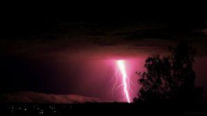 Erdblitze während Gewitter am 6. Juli 2017 um 23:56 Uhr