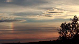 Linke Nebensonne am 15. Juli 2017 um 20:42 Uhr