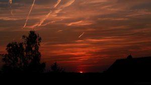 Sonnenuntergang am 18. Juli 2017 um 21:15 Uhr
