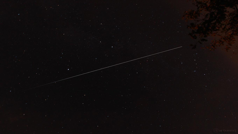 Die ISS zwischen Wega und Kassiopeia