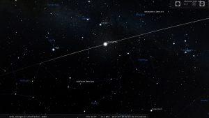 Grafische Darstellung des Überflugs der ISS am 19. Juli 2017 um 02:11 Uhr