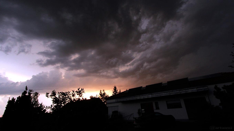 Nordwesthimmel von Eisingen nach dem schweren Gewitter - 19. Juli 2017 um 20:50 Uhr