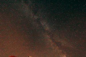 Die Milchstraße am 21. Juli 2017 um 01:52 Uhr über Eisingen