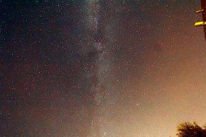 Die Milchstraße am 21. Juli 2017 um 01:56 Uhr über Eisingen