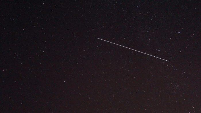 Strichspur des Überflugs der ISS am 21. Juli 2017 um 02:03 Uhr