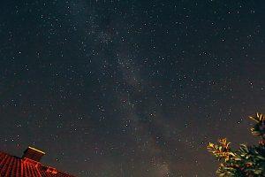 Die Milchstraße am 21. Juli 2017 um 02:16 Uhr über Eisingen