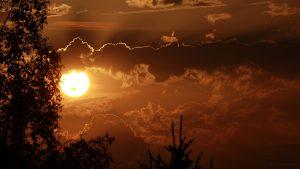 Licht und Schatten - Untergehende Sonne am 31. Juli 2017 um 20:36 Uhr