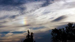 Linke Nebensonne am 2. August 2017 um 19:42 Uhr